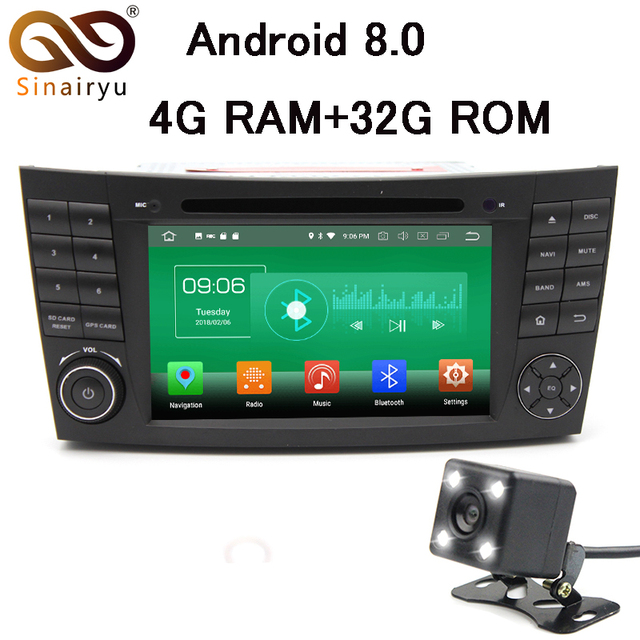 4G RAM Android 8.0 Car DVD For Mercedes Benz E-Class W211 CLS W219 G-Class W463 Octa Core 32G Radio GPS Player Head Unit
