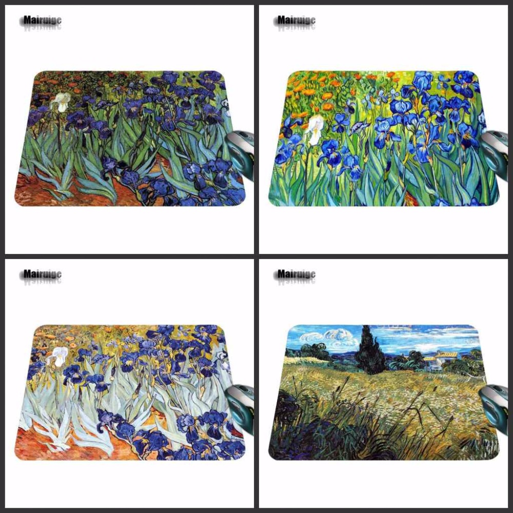 Hot Sale Luxury Printing Art flowers Skin Non Slip Durable Rubber Mousepad for PC Optal Mouse Pad 18*22cm /25*29cm Or 25*20cm