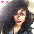 Kinky Curly U Part Wig Human Hair Unprocessed For Black Women Virgin U Part Human Hair Wigs 180% Density Top Quality 7A Wig