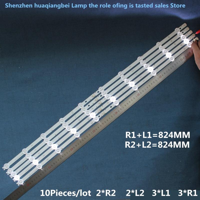 In u1 sf 6916l-1318a 6916l-1319a 6916l-1320a 6916l-1321a R1+l1=824mm Exquisite Radient 10 Pcs/set Led Backlight Strip For Lg 42la620s Lc420due Workmanship