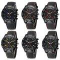 New! горячие Продажи Популярный Открытый Дизайн мужская Мода Силиконовой Лентой Из Нержавеющей Стали Аналоговый Спорт Кварцевые Наручные Часы NO181 5V6C