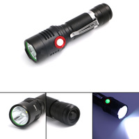 XML L2 USB Rechargeable Flashlight 2000lm Adjustable Brightness 2 Modes LED Flashlight Lamp Light Tactical Torch