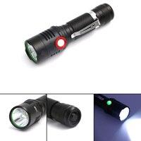 XML L2 USB Rechargeable Flashlight 2000lm Adjustable Brightness 2 Modes LED Flashlight Lamp Light Tactical Torch