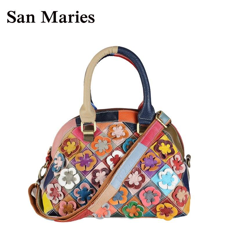 aa9c6a2b9 San Maries nuevo 2019, bolsas de mensajero para mujeres de marca famosa,  flores de