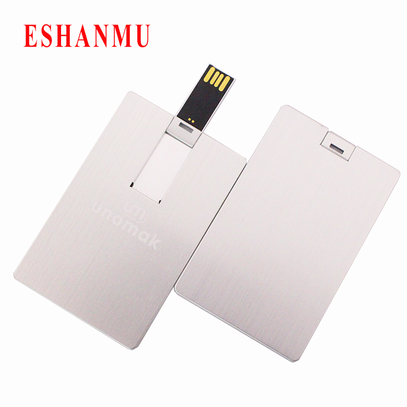Aluminum business card usb flash drive pen drive 4gb 8gb 16gb 32gb aluminum business card usb flash drive pen drive 4gb 8gb 16gb 32gb pendrive memory stick credit card usb custom logo in usb flash drives from computer reheart Choice Image