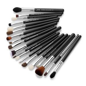 Image 5 - Jessup Juego de brochas de maquillaje, 19 Uds., negro/plateado, herramientas cosméticas, brocha de maquillaje, delineador de ojos, Lápiz corrector labial