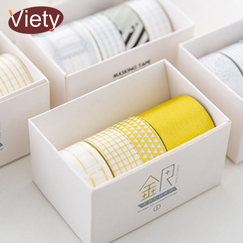 4 Pcs/Box Gold And Silver Washi Tape DIY Decoration Scrapbooking Planner Masking Tape Adhesive Tape Label Sticker