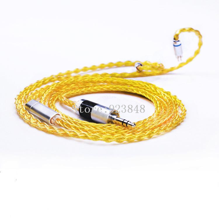 diy earphone line upgrade cable Headphone wire se535 ie80 w4r ue900 0 75mm 0 78mm im50