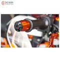 Motorcycle  cnc Aluminum Handlebar Grips Bar Ends Orange color for ktm duke125 200 / KTM duke 390