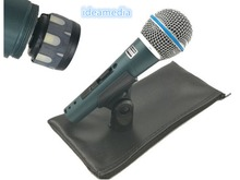 Versão de alta qualidade beta 58a vocal karaoke handheld dinâmico microfone com fio beta58 microfone mike beta 58 um microfone