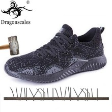 New Mens Summer High Quality Work Safety Shoes Comfortable Breathable Non-slip Puncture Boots
