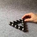 12 pçs/lote 16mm Preto Ímãs Magnéticos Bolas Esferas Grandes Esferas Cubo Mágico Enigma Bloco Cubo Magico Presente de Natal
