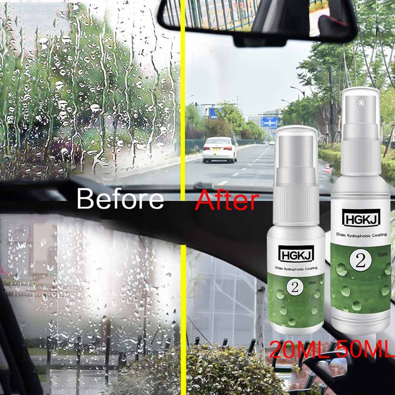 Auto Accessories <font><b>Nano</b></font> <font><b>Hydrophobic</b></font> Coating <font><b>Car</b></font> <font><b>Glass</b></font> Windshield Rearview Mirror Side Windows Waterproof Rainproof image