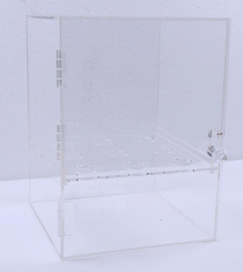 Boîte d'affichage de rouleaux d'oeufs de crème glacée d'armoire de cône de crème glacée de 9 trous (acrylique, couleur transparente, 9 trous, taille de pores 3.5 cm)-in Bacs à glace from Maison & Animalerie    1