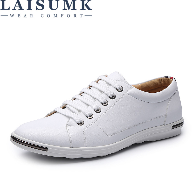 2019 LAISUMK Men Casual Shoes Footwear Comfortable Men Leather Oxfords Men Shoes Big Size 6 15 in Men 39 s Casual Shoes from Shoes