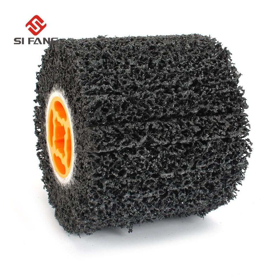 Cepillo de alambre abrasivos de alambre tambor rueda cepillo brunishing pulido rueda para muebles de madera pulido rayado dibujo grano #80#120#240 240#