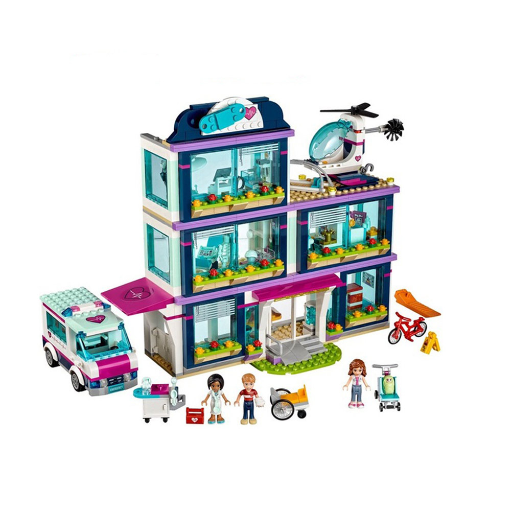 Friends Girl Series 932pcs Building Blocks toys Heartlake Hospital kids Bricks toy girl gifts Compatible with Legoe