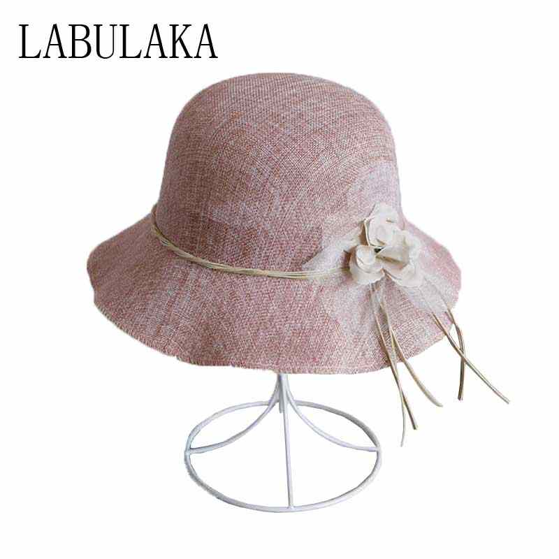 2019 New Summer Sun Hats For Women Flower Bow-knot Straw Beach Hat Casual  Ladies 62b97b7409f7