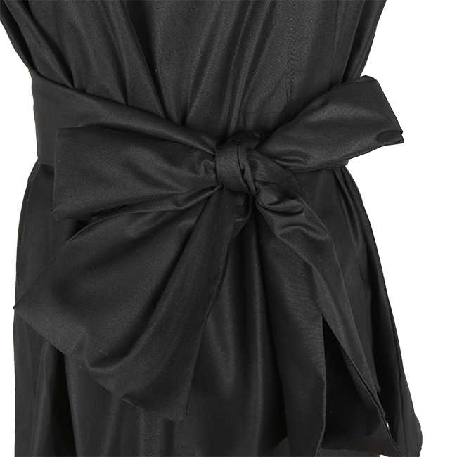TWOTWINSTYLE ノースリーブサッシチュニック女性のブラウスシャツ夏 2019 V 襟黒カーキ不規則なトップスカジュアル