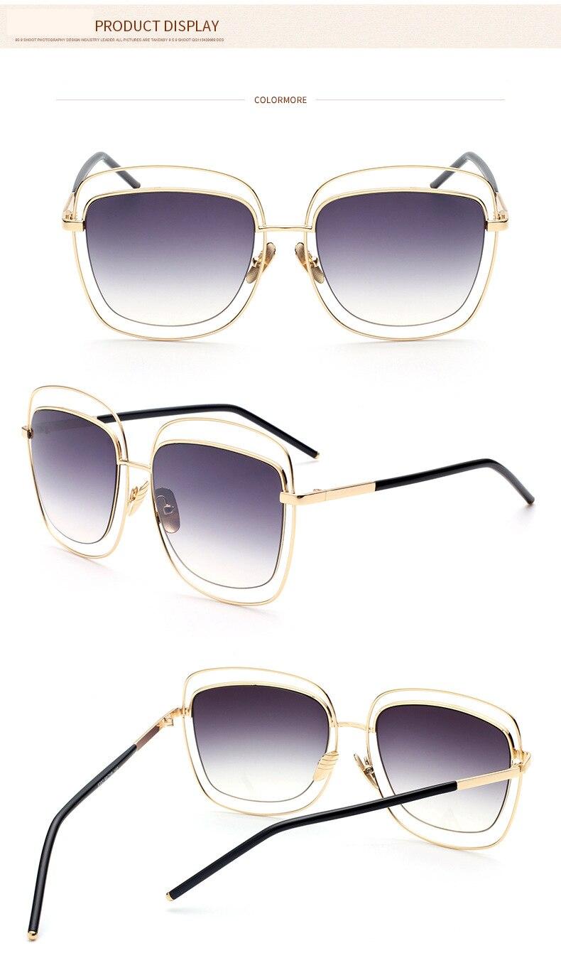 dbd9d9a01 DANKEYISI Unsex óculos de Metal Óculos De Sol Das Mulheres Designer de  Marca óculos de Sol óculos de Sol UV400 Óculos de Metal Oco óculos de Sol  Das ...