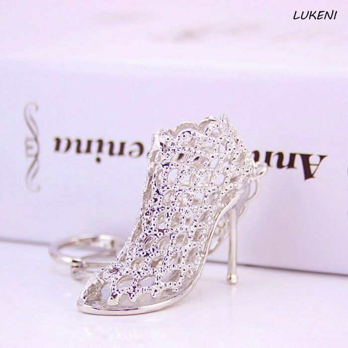 1 Pcs/set Creative New Hollow Out High Heel Shoes Key Chain Purse Bag Hand Bag Pendant For Car Key Ring Holder Women Best Gift