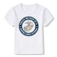 Boy and Girl USMC T-shirt Children O-Neck Short sleeves Summer Casual US Marine Corps T Shirt Kids Tops Tee Baby Clothes