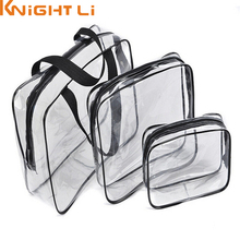 Hot Makeup Cosmetic Wash Bathing Supplies Storage Bag Travel Essential Transparent Waterproof Toiletry PVC Pouch Y1