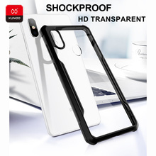 Business Luxury 360 Shockproof Case New For Xiaomi mi8 SE Phone HD Transparent Soft Silicone Airbags Protective Back Cases Cover