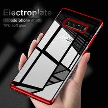 Купить с кэшбэком For Samsung Galaxy S10 S10 plus Case 3D Laser plating Soft Clear Cover Case For Samsung S10 Plus Phone Cases Fundas