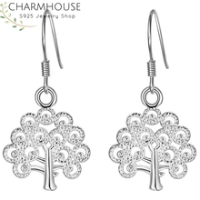 Charmhouse 925 Silver Earrings for Women Money Tree Dangle Earing Brincos Pendientes Fashion Jewelry Accessories Party Gifts charmhouse 925 silver earrings for women leaf dangle earing brincos pendientes fashion jewelry accessories party gifts