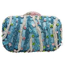 LaiSC besetzt gestreiften form strass kristall abend handtaschen frauen partytüten hochzeit sparkly bankett handtasche SC142