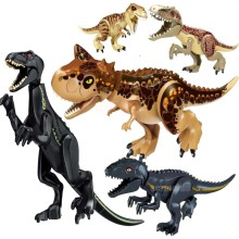 Jurassic World 2 Building Blocks Legoings Dinosaurs Figures Bricks Tyrannosaurus Rex Indominus I-Rex Assemble Kids Toys