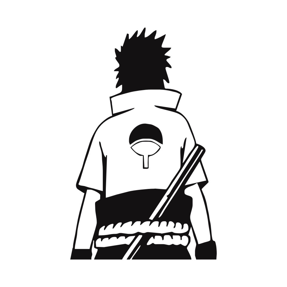 Cunymagos naruto sasuke uchiha anime fashion stickers decals vinyl creative car wall window sticker car styling