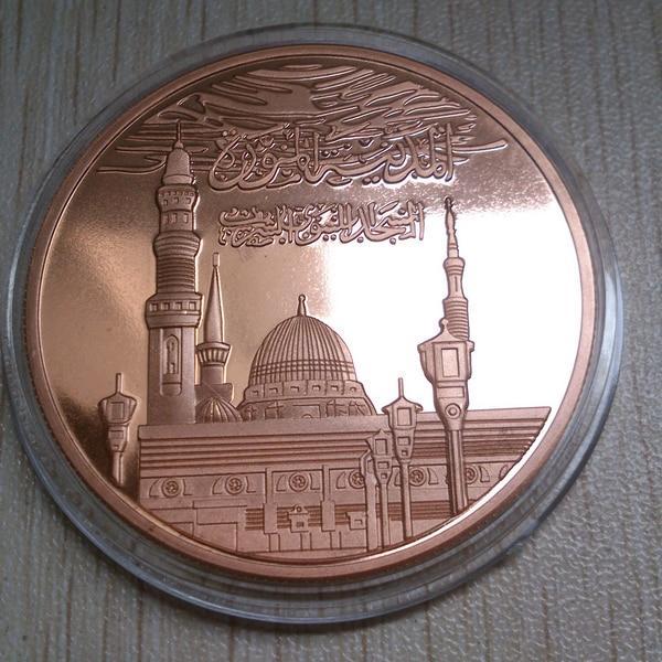 Saudi Aabia монета 50 шт./партия 999 Чистая медь металл монета, памятная монета