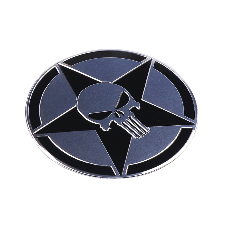 Image 3 - The Punisher Skull Warzone 3D Aluminum alloy Car Auto Badge Motorcycle Sticker Emblem Logo Automobile Tuning Car Styling-in Car Stickers from Automobiles & Motorcycles