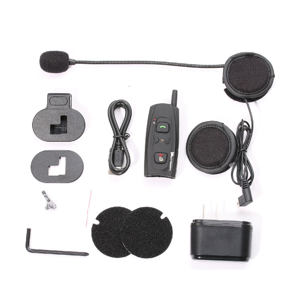 V2-1200 Earphone Motorcycle Intercom Bluetooth Helmet Headset 1000M 2 Riders Moto Communication BT Interphone Wireless Headphone-9
