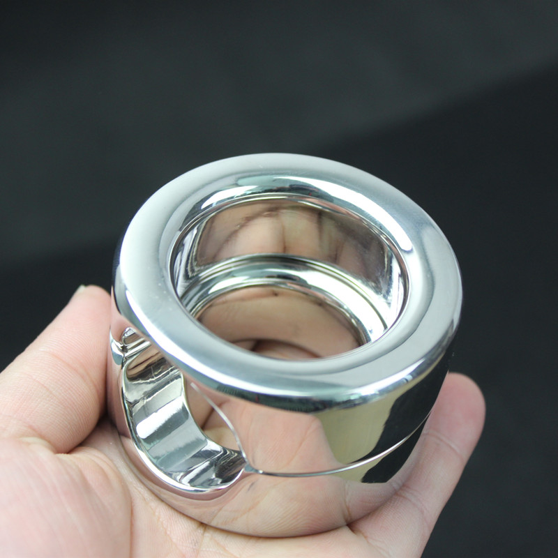 Metal Scrotum Pendant Ball Stretchers Testis Weight ring Penis Pendant Stainless Steel cock Lock Ring Sex