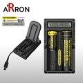 100% Original Nitecore UM20 18650 Bateria De Lítio Carregador Digicharger Display LCD USB para 17500 Carregador de 14500 Baterias de íon Li