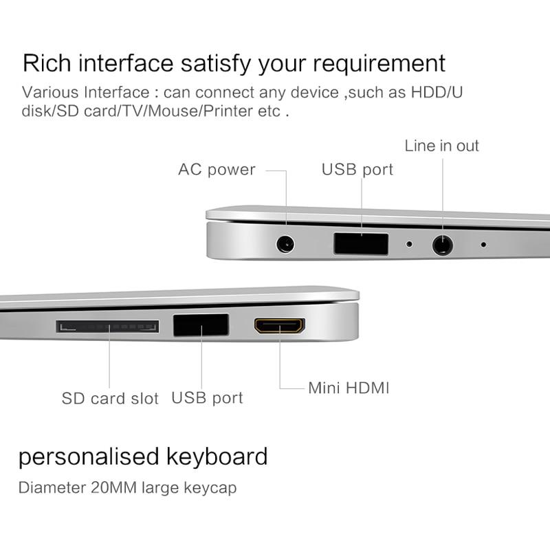YEPO 14 inch laptop RAM 2GB ROM 32GB 64/96GB Storage computer ultrabook Bluetooth Intel Bay Trail notebook 4.0 Camera a laptop 4