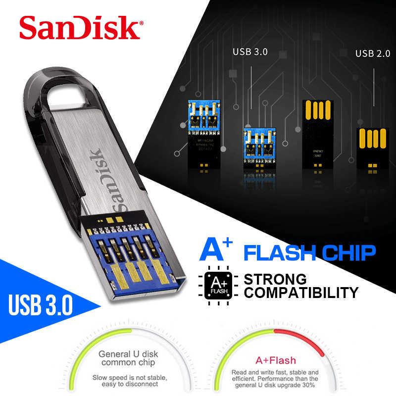 Sandisk original CZ73 Metal 3.0 GB pendrive USB Flash Drive 128 GB 64 32 GB 16 GB moda Memória flash vara pen drive usb stick