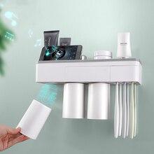 Магнитный держатель для зубных щеток перевернутый настенный набор для чистки ванной
