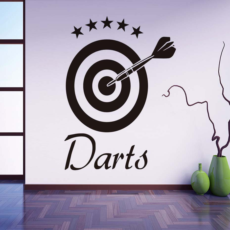 Darts Wall Decal Target Sports Removable Vinyl Wall Stickers Self