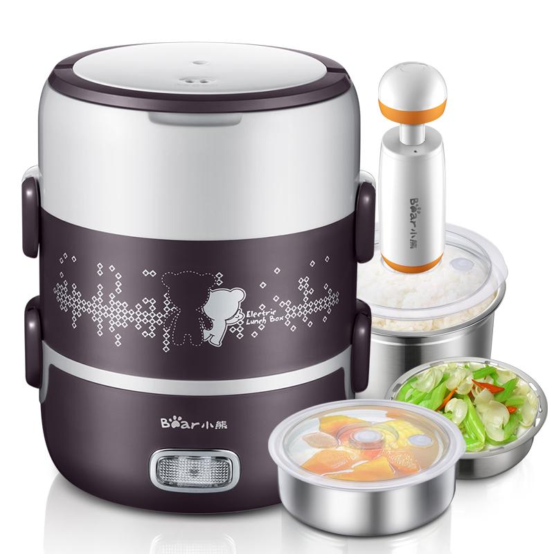 2L Electric Lunch Box Rice Cooker Three Floors Portable Insulation Pluggable Heating Vacuum Cooking Bringing Meals To Work2L Electric Lunch Box Rice Cooker Three Floors Portable Insulation Pluggable Heating Vacuum Cooking Bringing Meals To Work