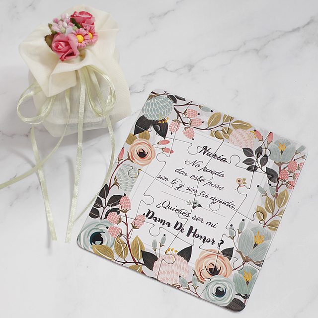 2018 new personalized bridesmaid proposal puzzle gift any text 2018 new personalized bridesmaid proposal puzzle gift any text language customized invitation card wedding decoration stopboris Image collections