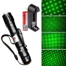 XpertMatic Powerful 532nm 1mw Green Laser Pointer Lazer Pen Burning Beam +18650 Battery+Charger