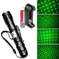 Powerful 532nm 5mw Green Laser Pointer Lazer Pen Burning Beam 18650 Battery Charger