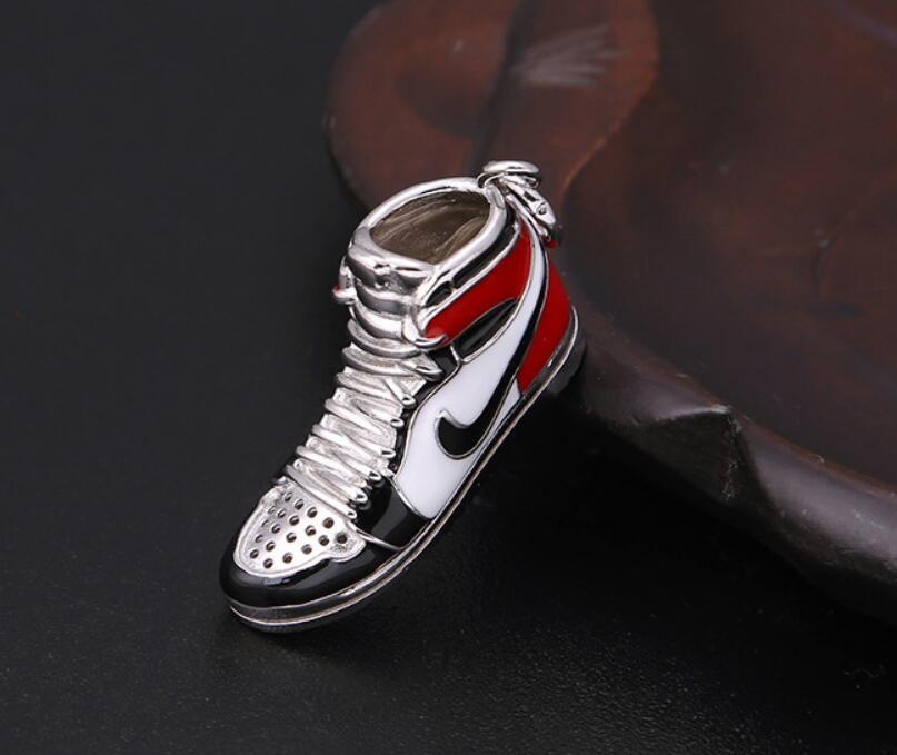 Image 4 - S925 Sterling Silver Jewelry Retro Sneakers four color Pendant (FGL)Pendants