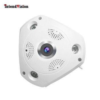 Intendvision 3mp 파노라마 카메라 와이파이 무선 카메라 4 화면 모델 보기 양방향 오디오 인터콤 IDC61S