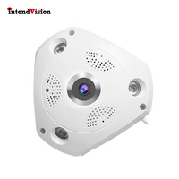 Intendvision 3mp Panorama Camera WIFI Wireless Fish eye Camera 4screen Model for Viewing Two Way Audio Intercom IDC61S
