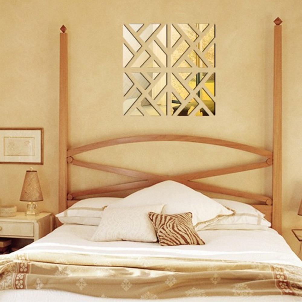 Nový 3 d kutilské akrylové zrcadlové zdi na poštu moderní domácí obývací pokoj ložnice ozdoba nástěnné zrcadlo na zeď doprava zdarma